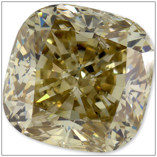 091 Carat Fancy Yellow Diamond