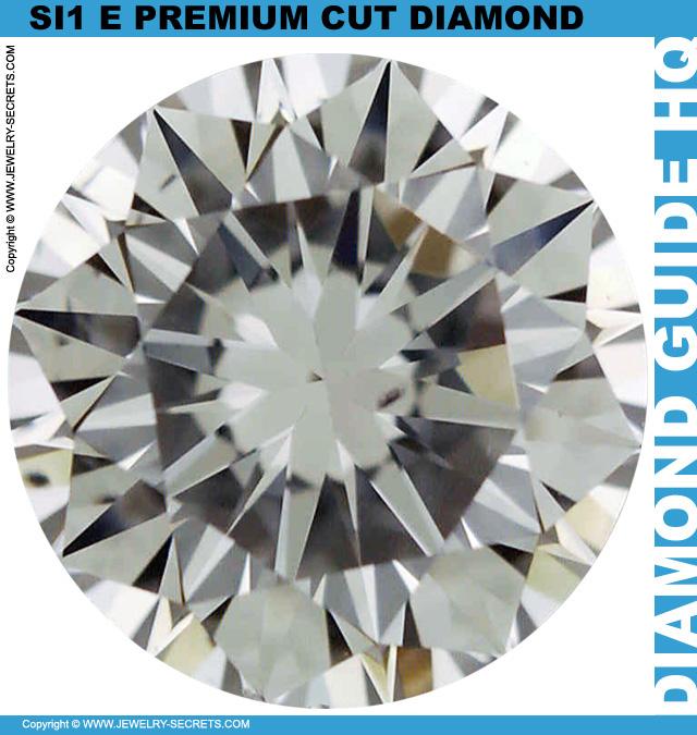 1 Carat E SI1 Premium Cut Round Diamond