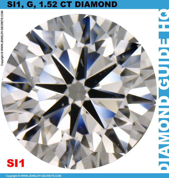 1.52 Carat SI1 G Premium Cut Diamond