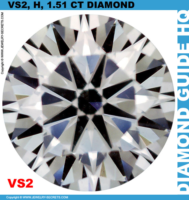 1.51 Carat VS2 H Premium Cut Diamond