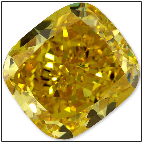 107 Carat Fancy Vivid Yellow Diamond