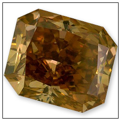 108 Carat Fancy Deep Brownish Yellow Diamond