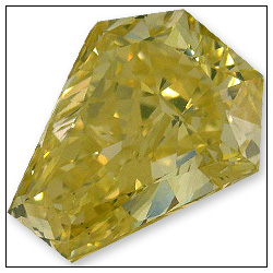 113 Carat Fancy Intense Greenish Yellow Diamond