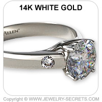 14k Cathedral Engagement Ring