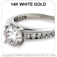 14k Channel Set Engagement Ring