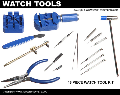 16 Piece Watch Tool Kit