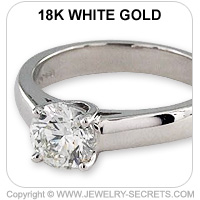18k Cathedral Engagement Ring