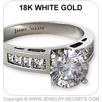 18k Channel Set Engagement Ring