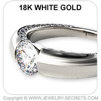 18k Tension Engagement Ring