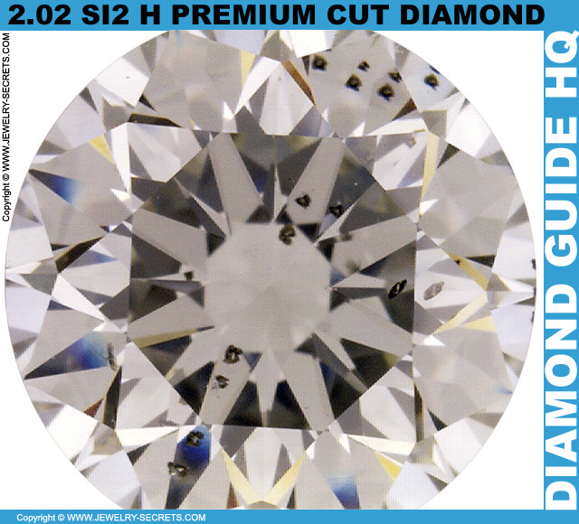 2 Carat SI1 H Premium Cut Diamond
