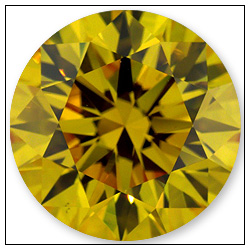 204 Carat Fancy Vivid Yellow Diamond