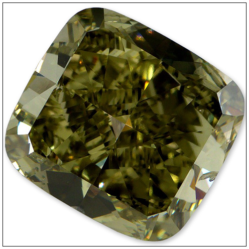 337 Carat Fancy Deep Yellowish Green Diamond