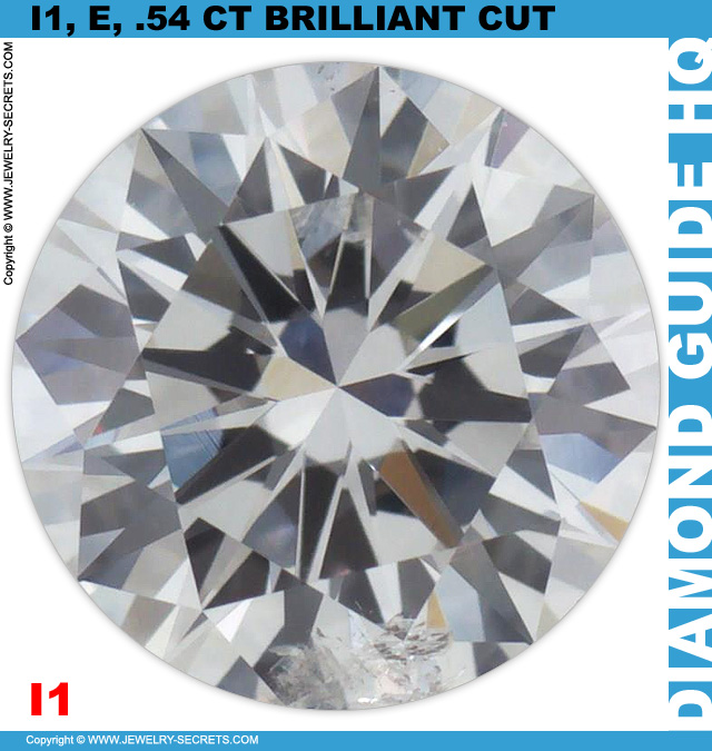 54 Point, I1, E, Brilliant Cut Diamond