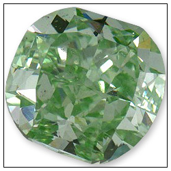 72 Point Fancy Green Diamond