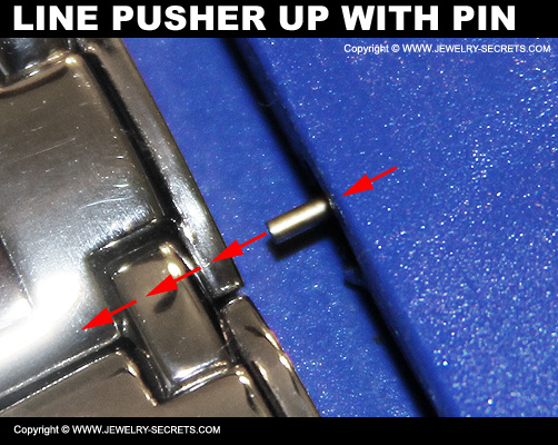 Align Watch Pusher Up With Watch Pin And Hole