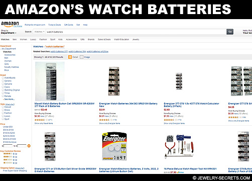 Amazons Watch Battery Prices