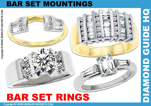 Bar Set Engagement Rings