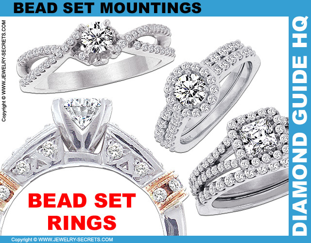 Bead Set Engagement Rings