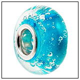 Blue Bubbles Murano Glass Bead