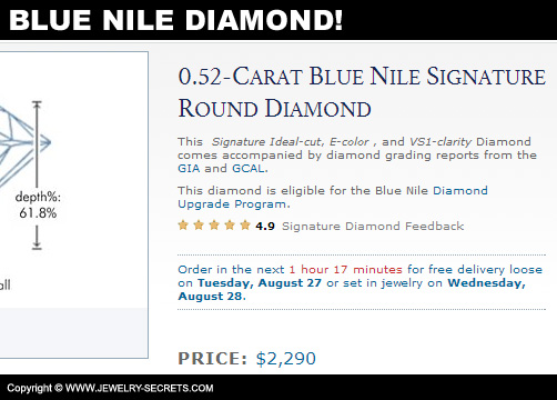 Blue Nile Half Carat Diamond