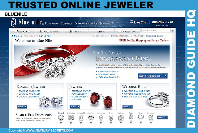 Blue Nile Jewelry Web Site 15