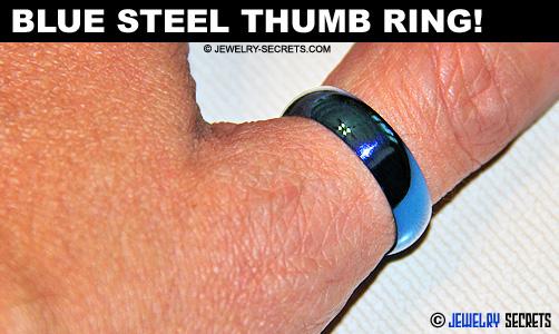 Blue Steel Thumb Ring