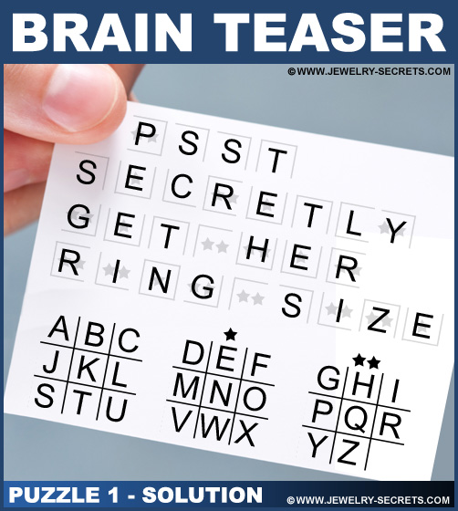 Brain Teaser Puzzle 1 Solution