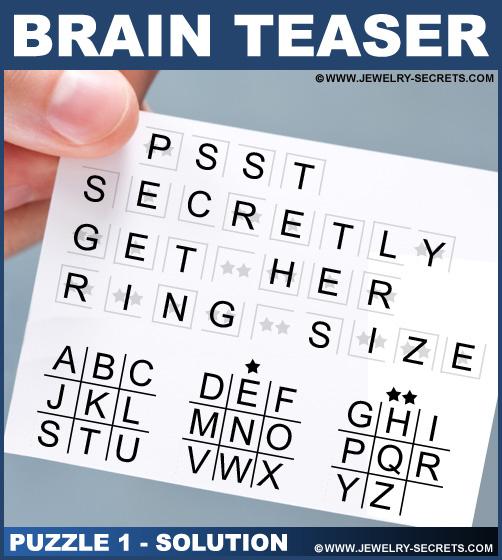 Brain Teaser Puzzle 1 Solution