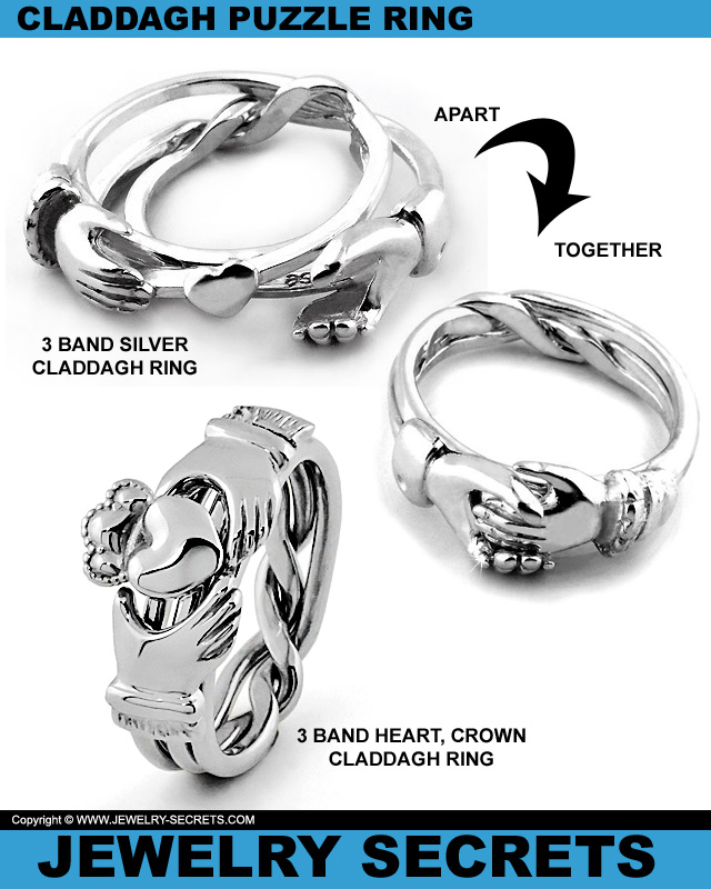 sterling dp ring puzzle amazon rings band size silver com pcs to