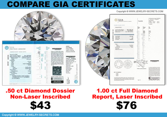 Compare GIA Diamond Report Certificates!