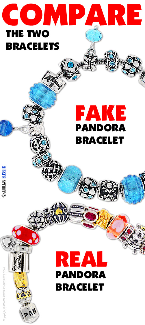 Compare Real Pandora To Fake Pandora Bracelets