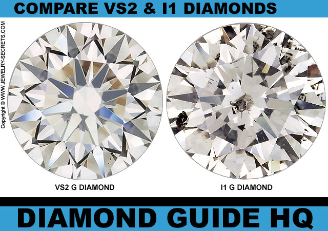 Compare VS2 - I1 Clarity Diamonds