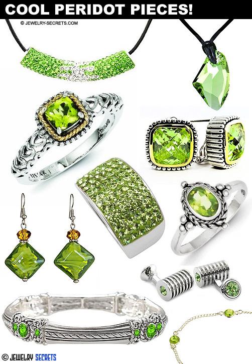 Cool Peridot Gemstone Birthstone Jewelry