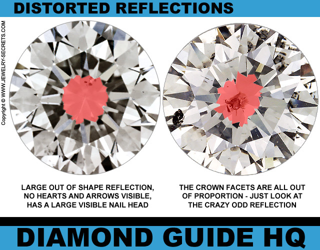 Distorted Diamond Reflections
