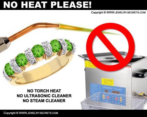 Don't Put Torch Heat To Peridot Gemstones