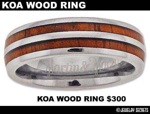 Double Row Koa Wood Ring
