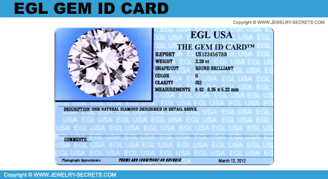 EGL Gem Id Card!