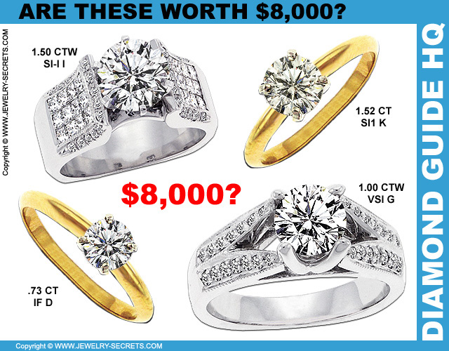 Engagement Rings Worth 8 Grand