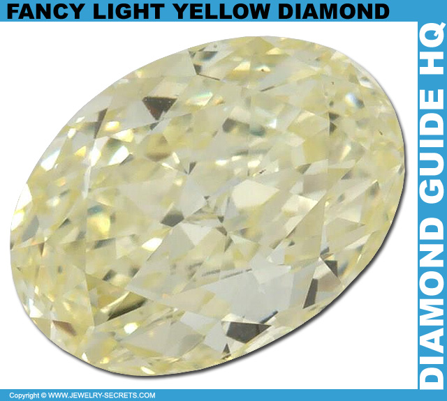 Fancy Light Yellow Oval Diamond!