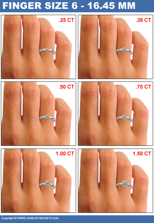 Finger Size 6 Diamond Sizes
