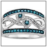 Fred Meyer Blue Diamond Ring
