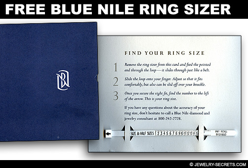 Free Blue Nile Plastic Ring Sizer