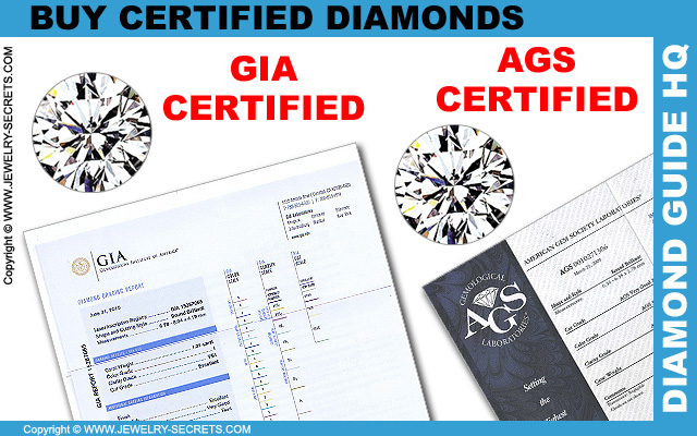 Buy GIA or AGS Certified Diamonds