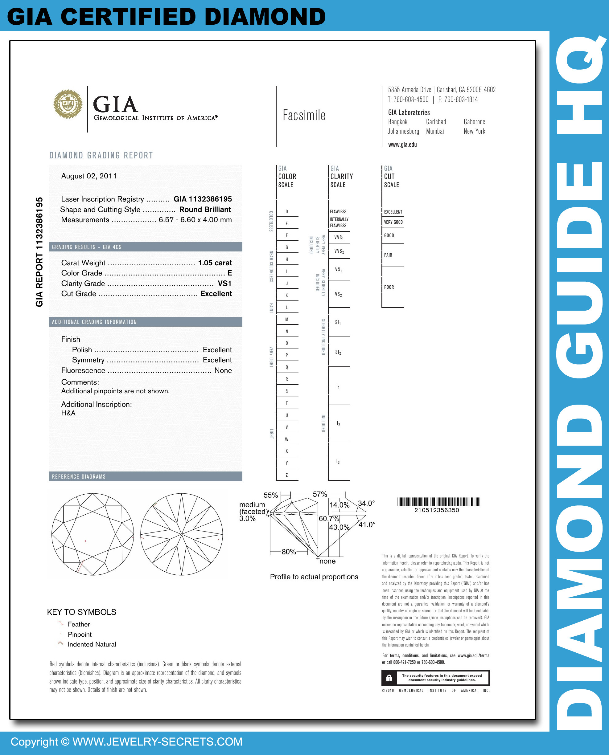 How To Read A Gia Diamond Report Jewelry Secrets
