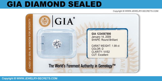 GIA Diamond Sealing!
