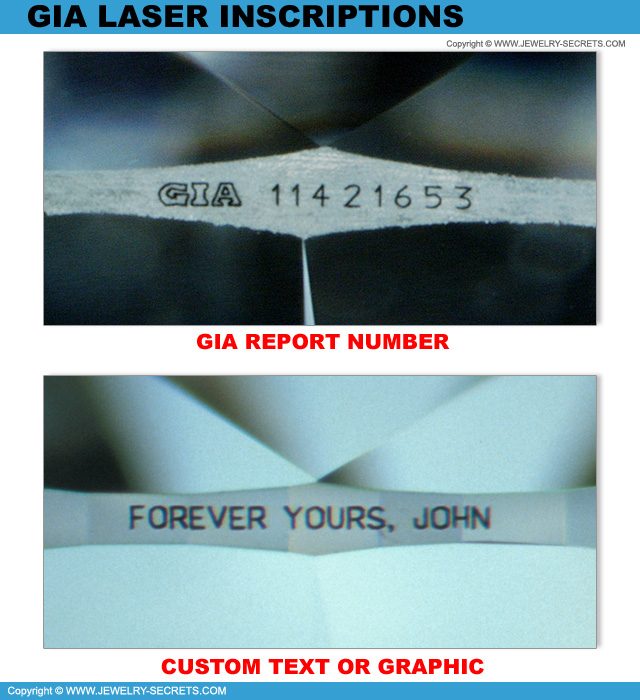 GIA Laser Inscriptions!