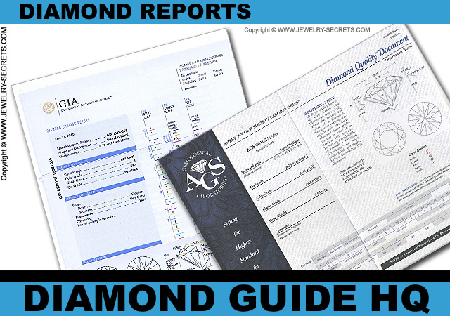 GIA and AGS Diamond Report Certificates!