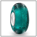 Glitter Teal Blue Charm Bead