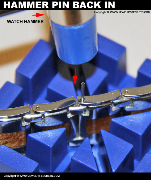 Hammer Watch Pin Back Into Watch