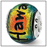 Hawaii Dichroic Glass Bead